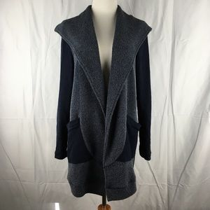 Saturday Sunday Anthro Open Front Long Cardigan Md